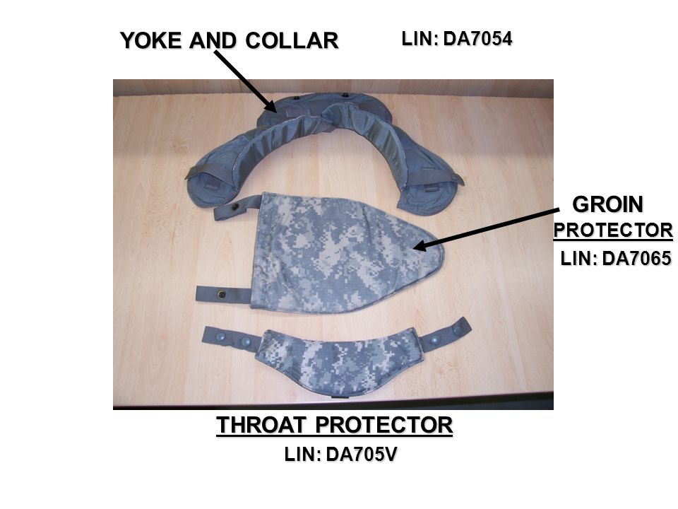 YOKE AND COLLAR GROIN THROAT PROTECTOR LIN: DA7054 PROTECTOR