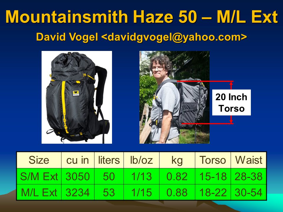 Mountainsmith Haze 50 – M/L Ext