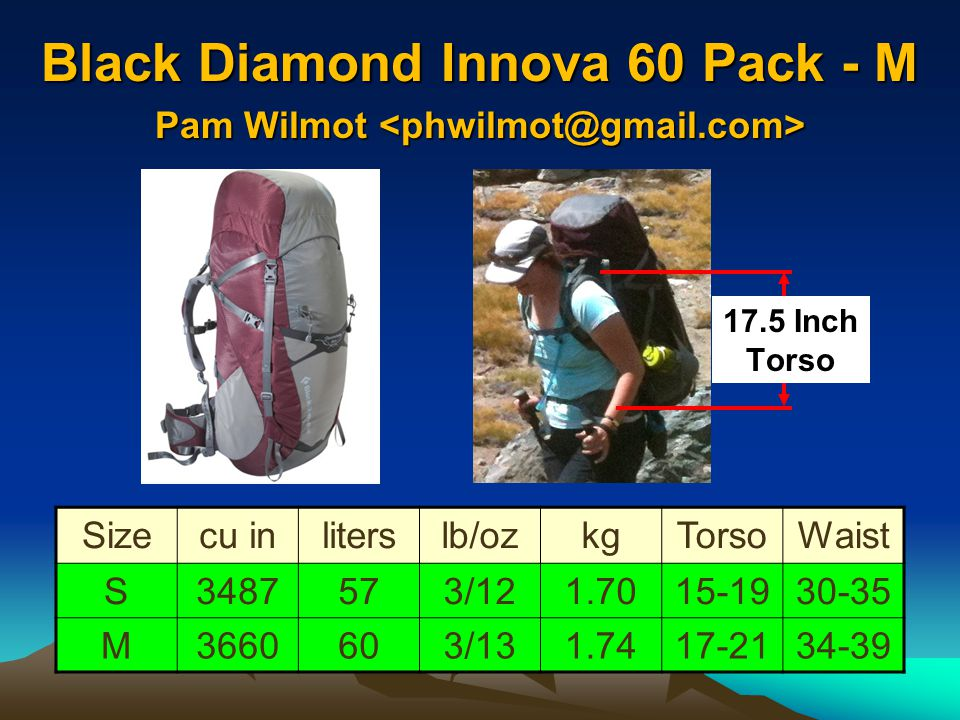 Black Diamond Innova 60 Pack - M Pam Wilmot <phwilmot@gmail.com>