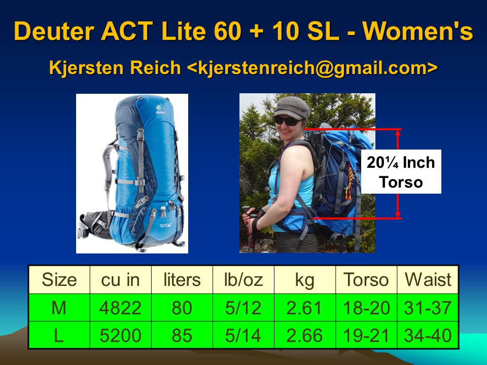 Deuter ACT Lite 60 + 10 SL - Women s