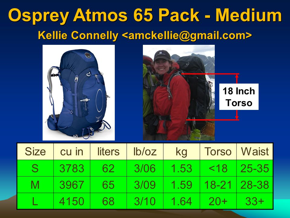 Osprey Atmos 65 Pack - Medium
