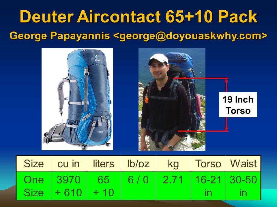 Deuter Aircontact 65+10 Pack