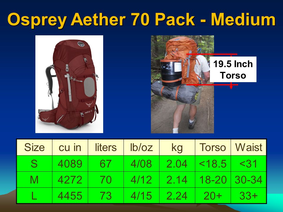 Osprey Aether 70 Pack - Medium