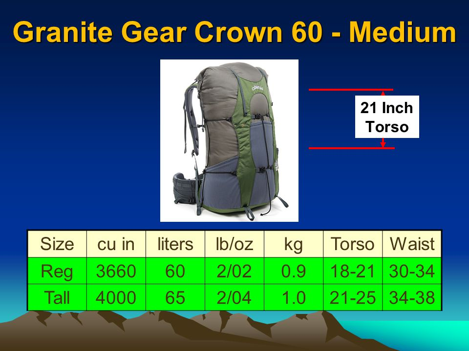 Granite Gear Crown 60 - Medium