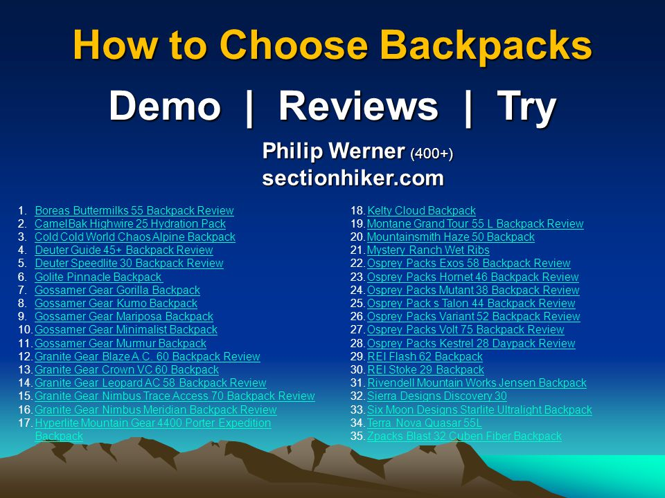 How to Choose Backpacks