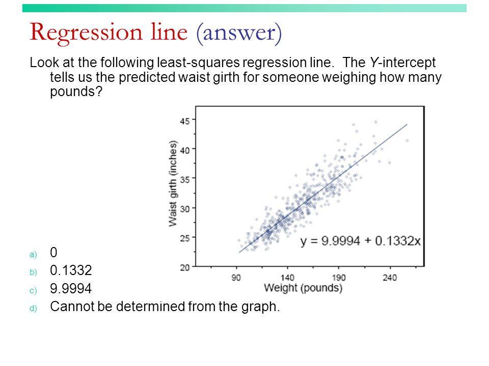 Regression line (answer)