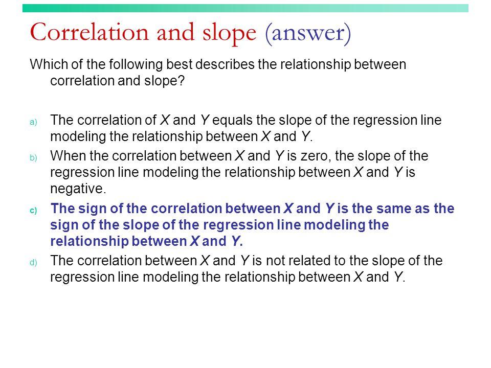 Correlation and slope (answer)