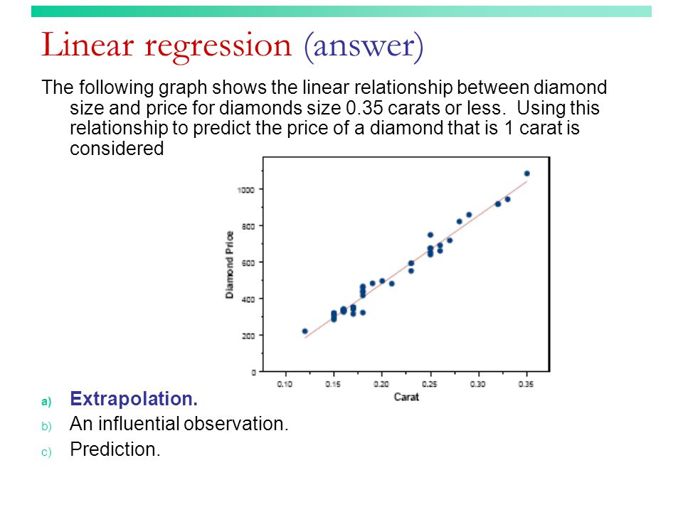 Linear regression (answer)