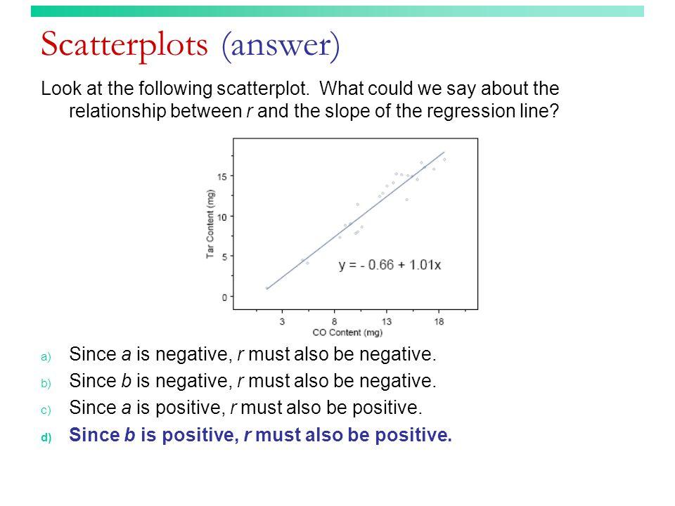 Scatterplots (answer)