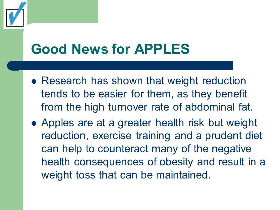 Good News for APPLES