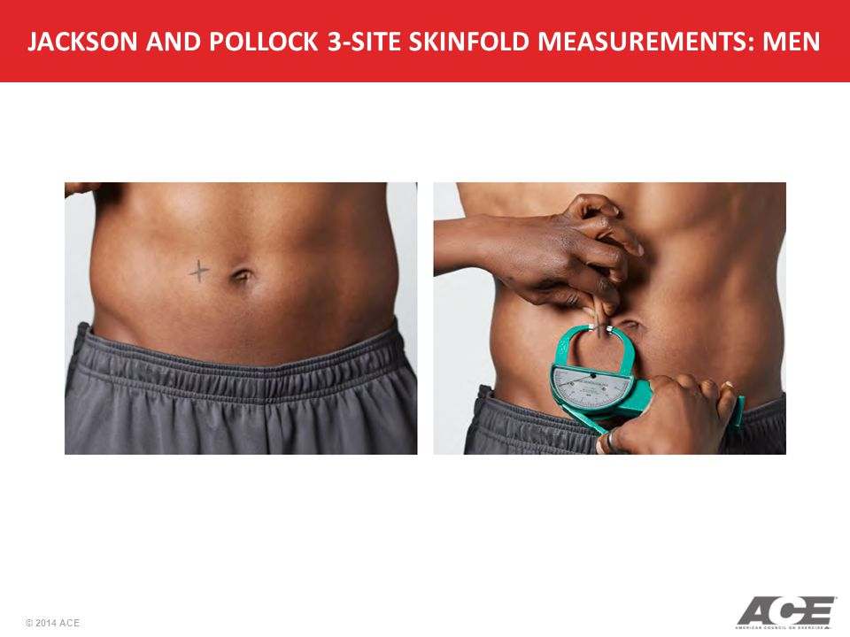 JACKSON AND POLLOCK 3-SITE SKINFOLD MEASUREMENTS: MEN