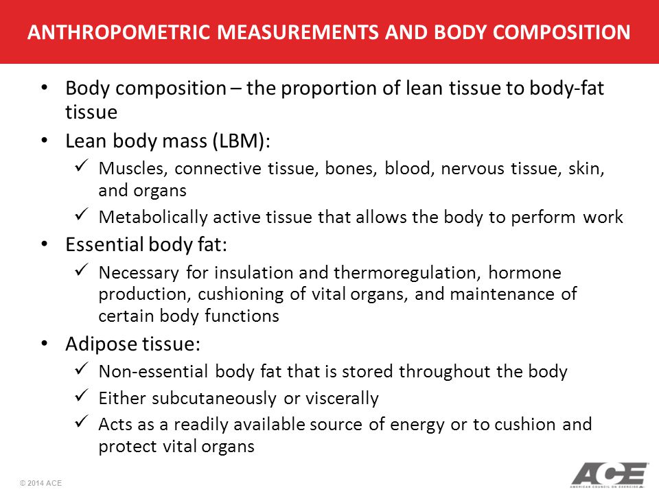 ANTHROPOMETRIC MEASUREMENTS AND BODY COMPOSITION