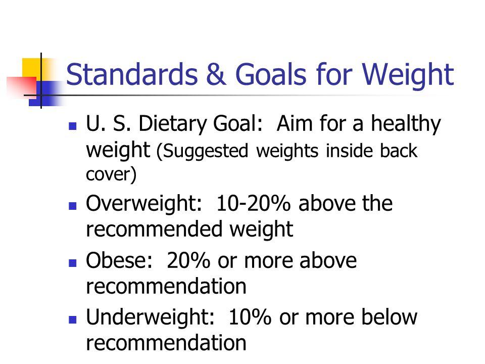 Standards & Goals for Weight