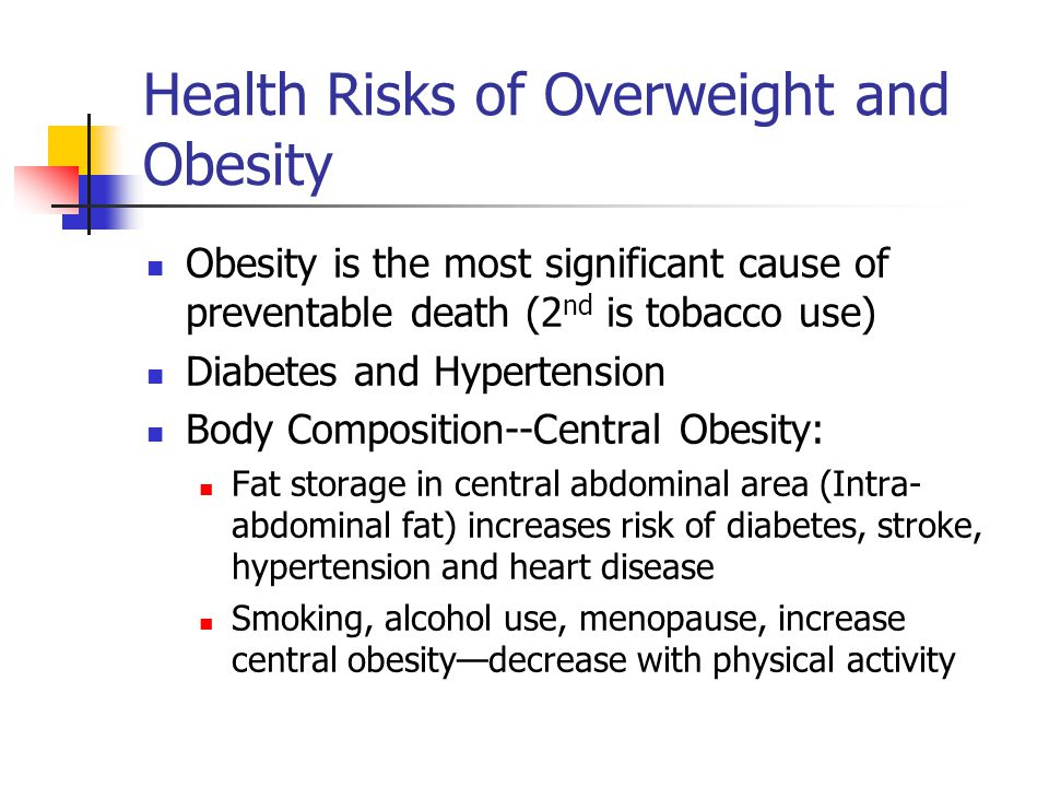 What Are the Health Risks of Smoking vs. Obesity?