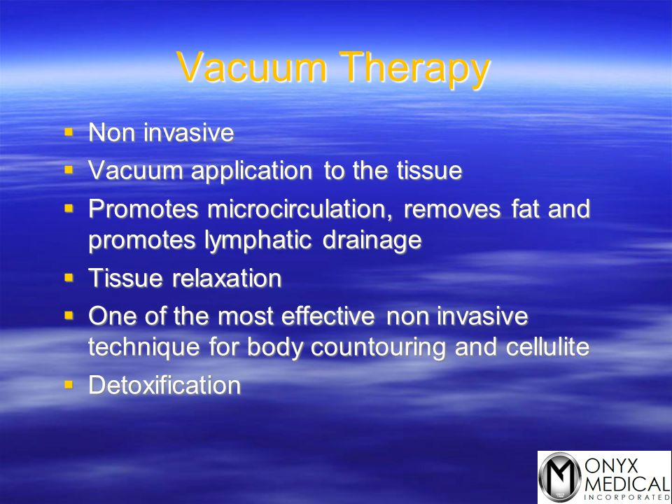 Vacuum Therapy Non invasive Vacuum application to the tissue