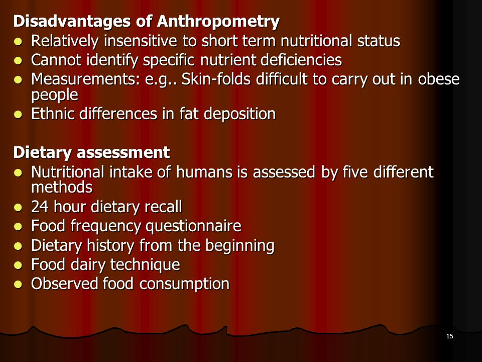 Disadvantages of Anthropometry
