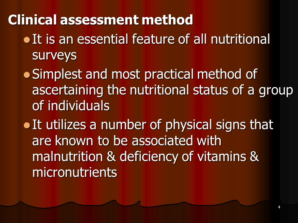 Clinical assessment method