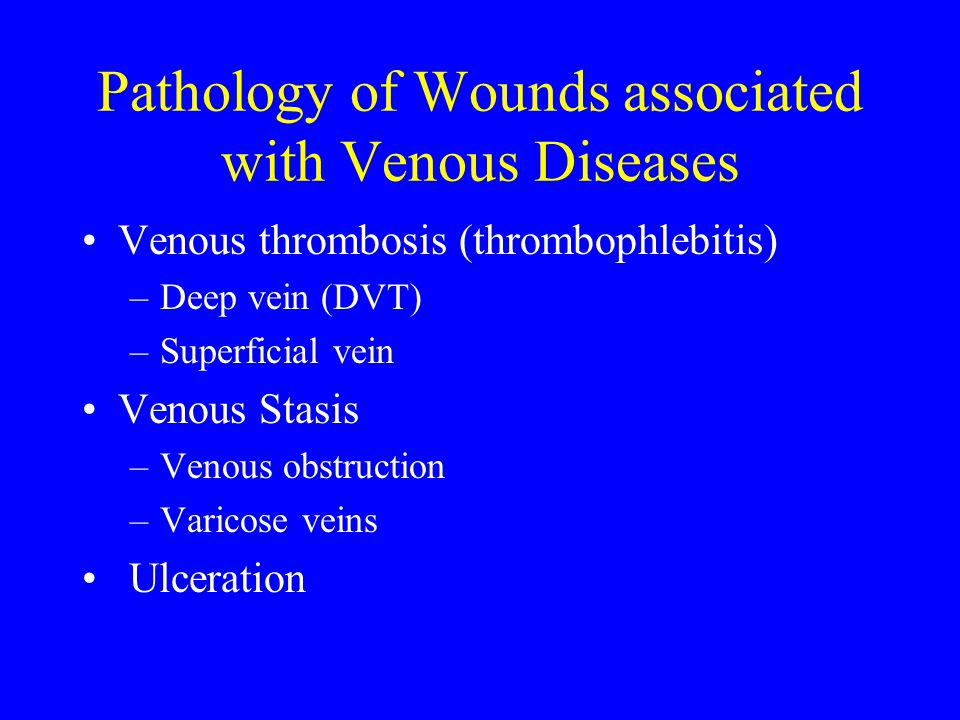 Pathology of Wounds associated with Venous Diseases