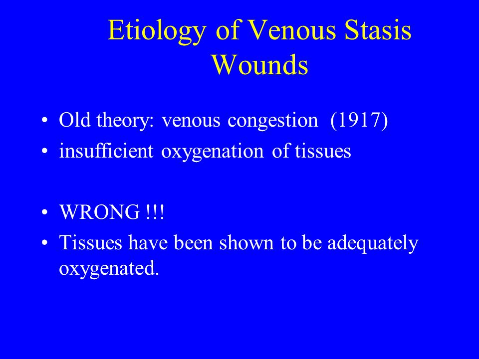 Etiology of Venous Stasis Wounds