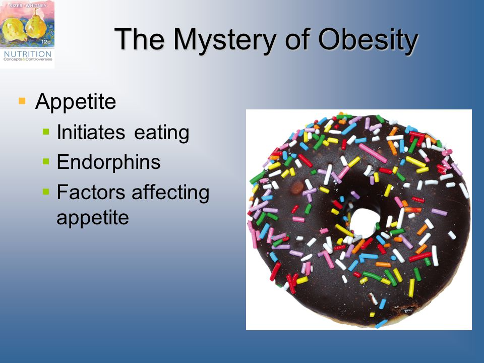 The Mystery of Obesity Appetite Initiates eating Endorphins