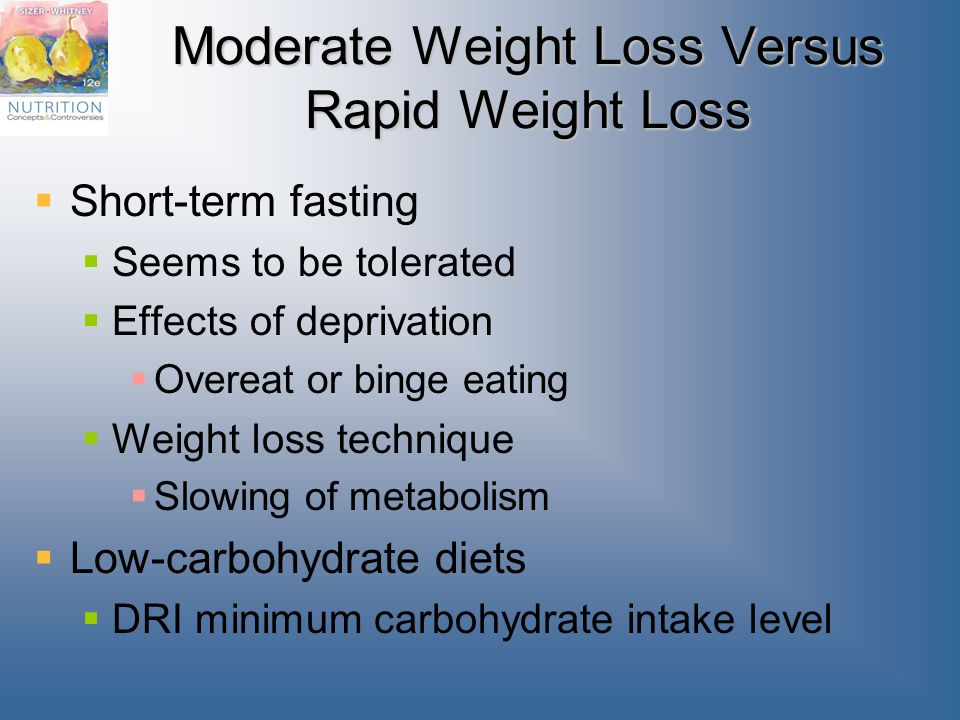 Moderate Weight Loss Versus Rapid Weight Loss