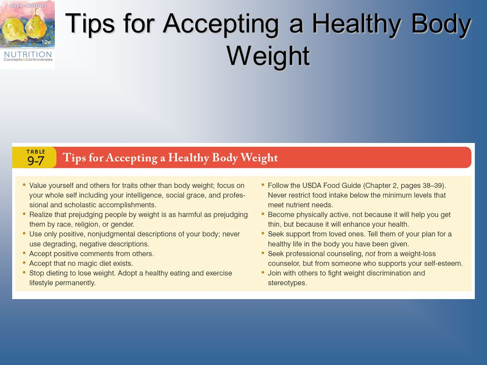 Tips for Accepting a Healthy Body Weight