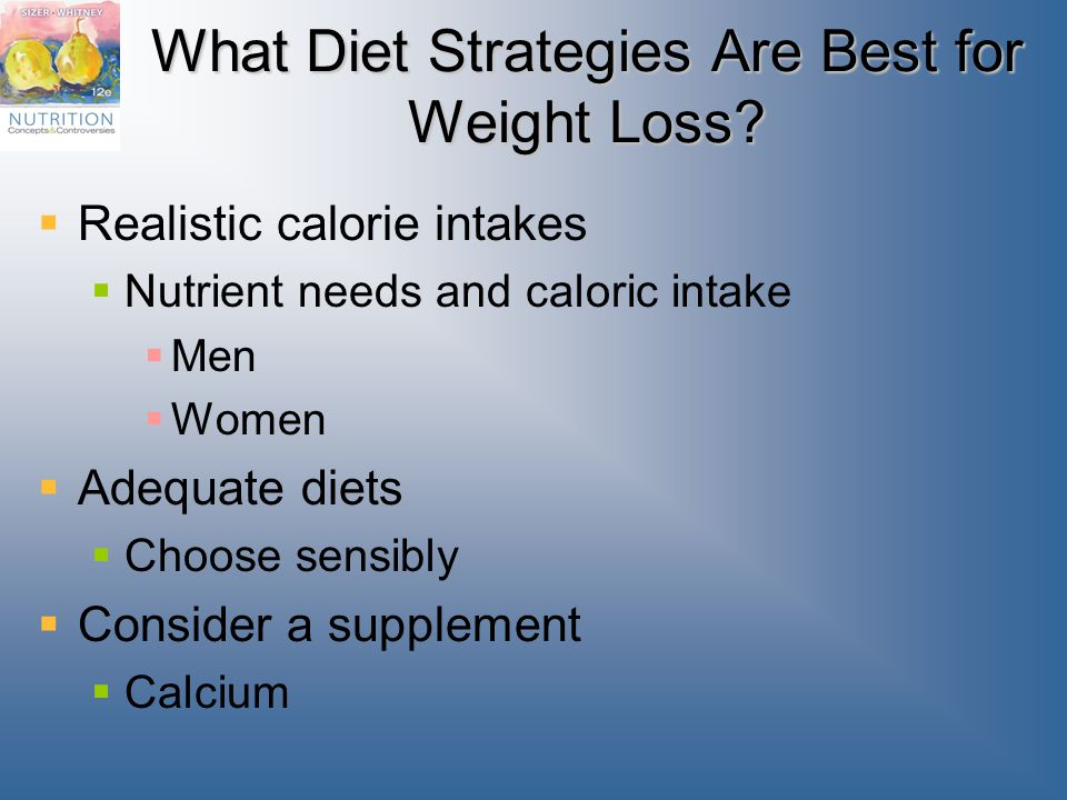 What Diet Strategies Are Best for Weight Loss