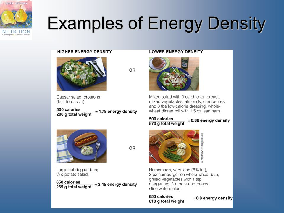 Examples of Energy Density