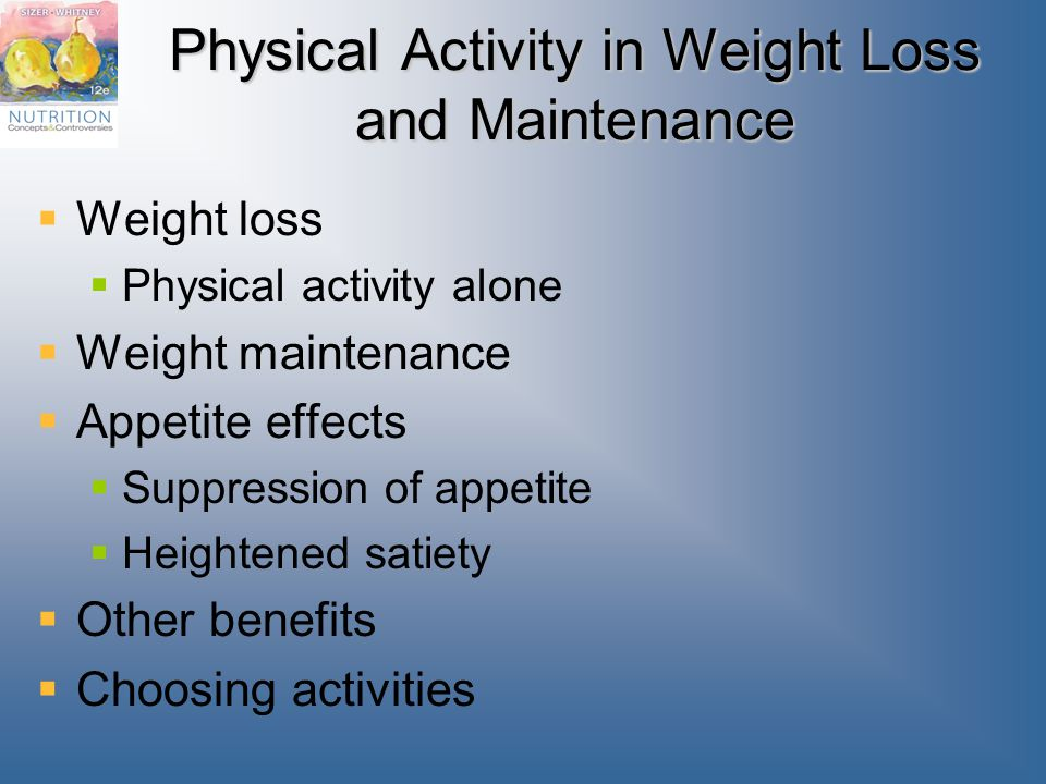 Physical Activity in Weight Loss and Maintenance