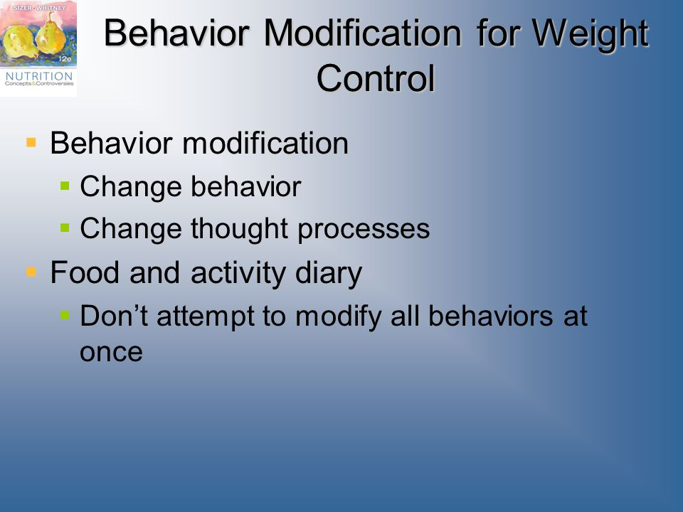 Behavior Modification for Weight Control