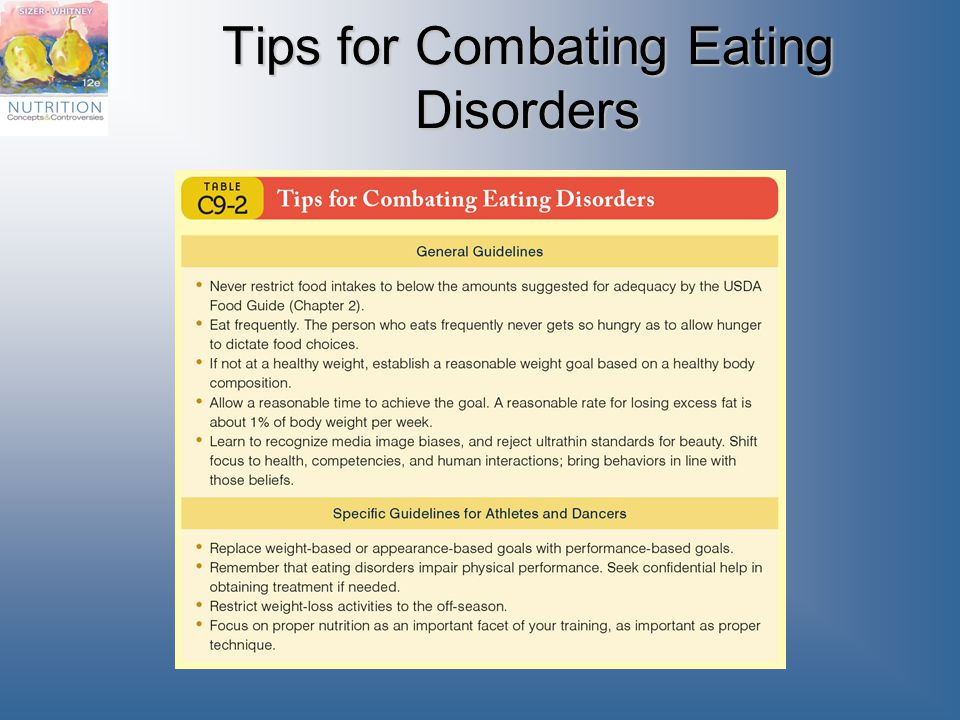 Tips for Combating Eating Disorders
