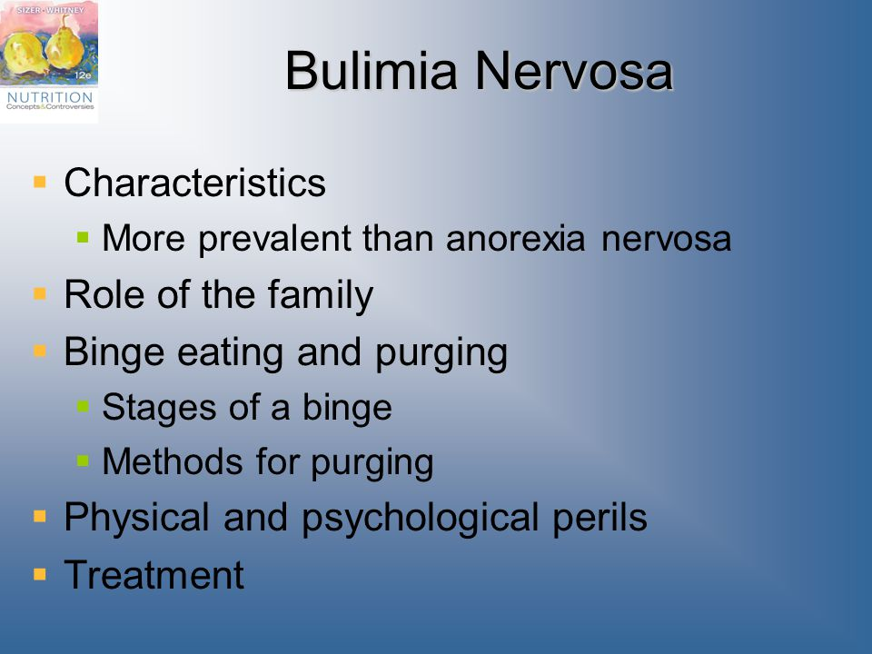 Bulimia Nervosa Characteristics Role of the family