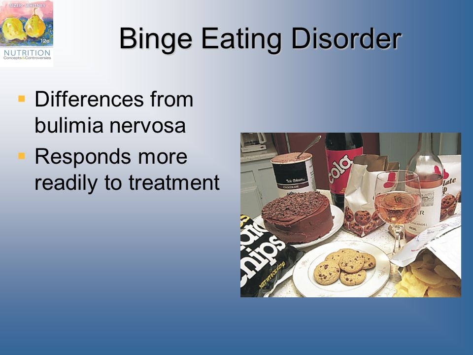 Binge Eating Disorder Differences from bulimia nervosa