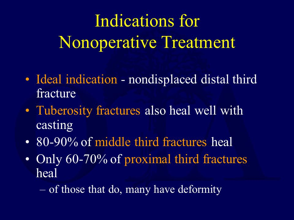 Indications for Nonoperative Treatment