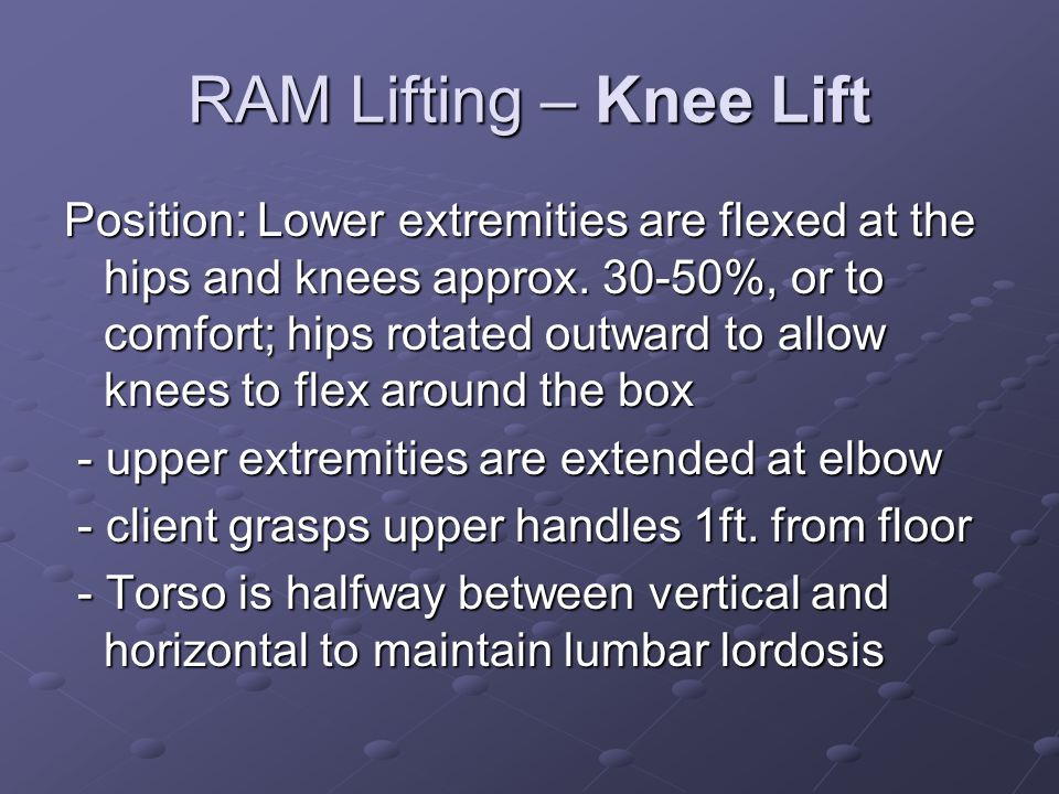 RAM Lifting – Knee Lift