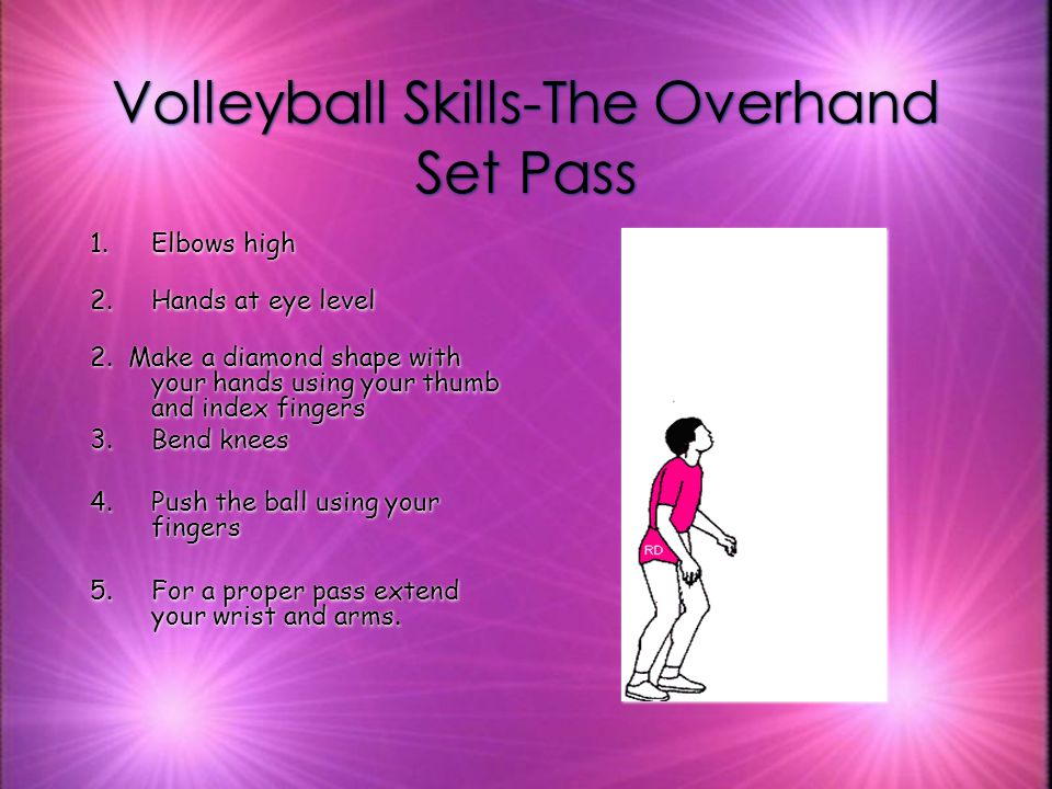 Volleyball Skills-The Overhand Set Pass