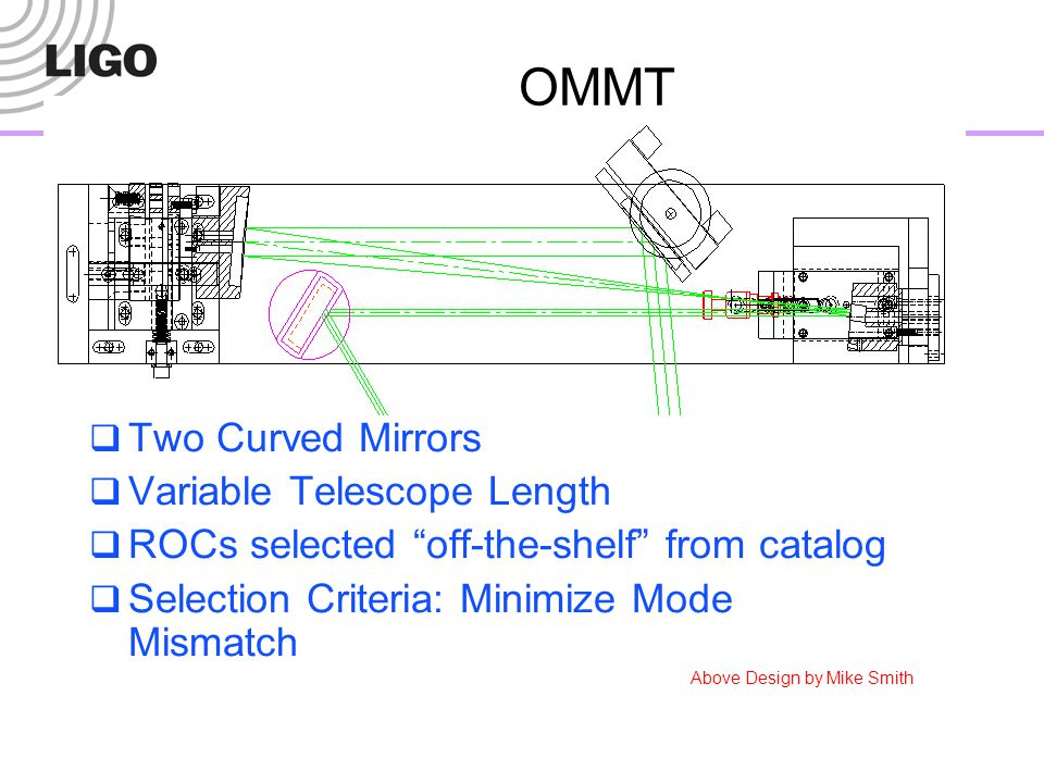OMMT Two Curved Mirrors Variable Telescope Length