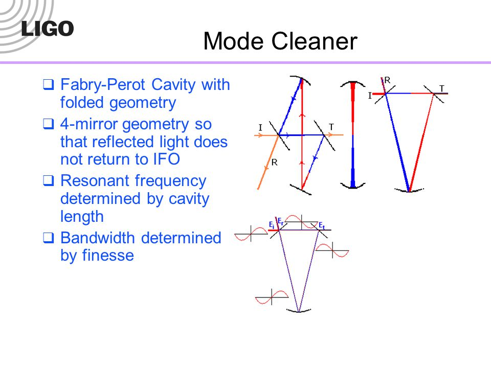Mode Cleaner Fabry-Perot Cavity with folded geometry