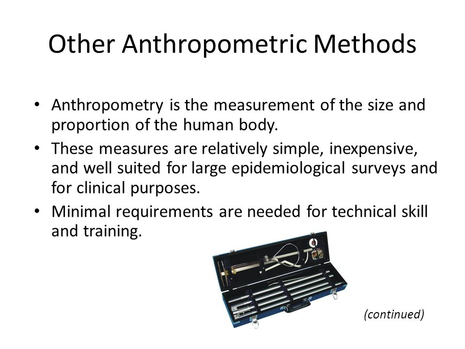 Other Anthropometric Methods