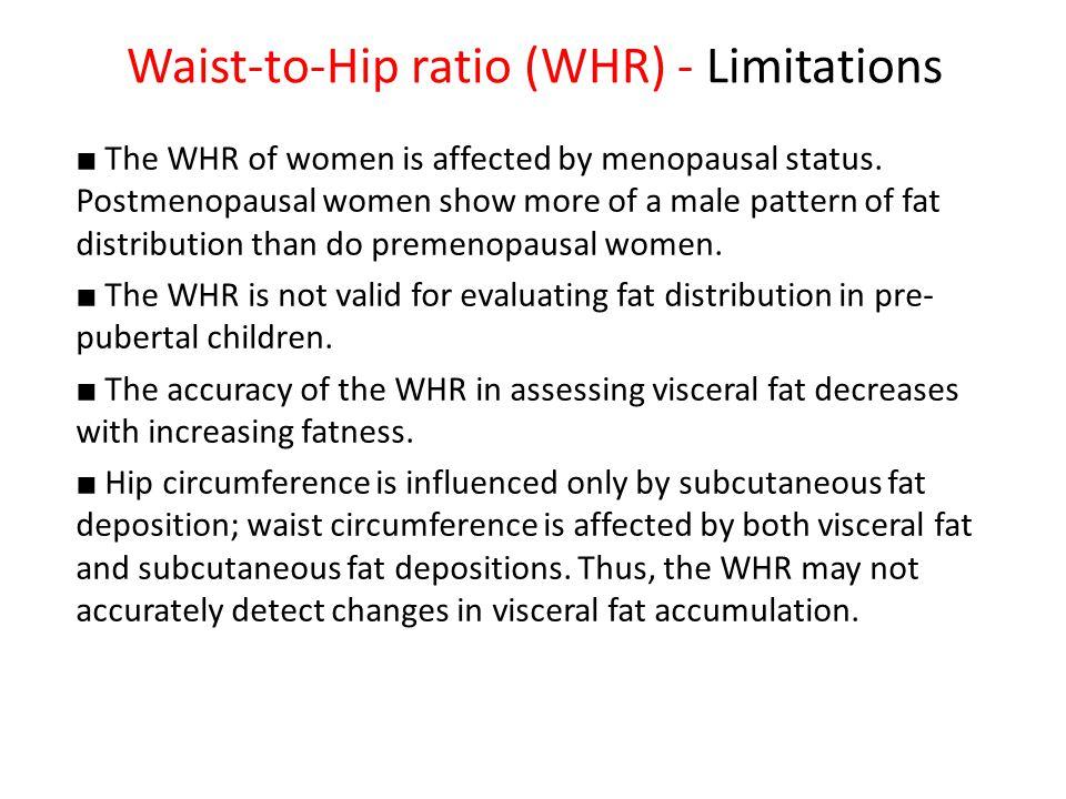 Waist-to-Hip ratio (WHR) - Limitations