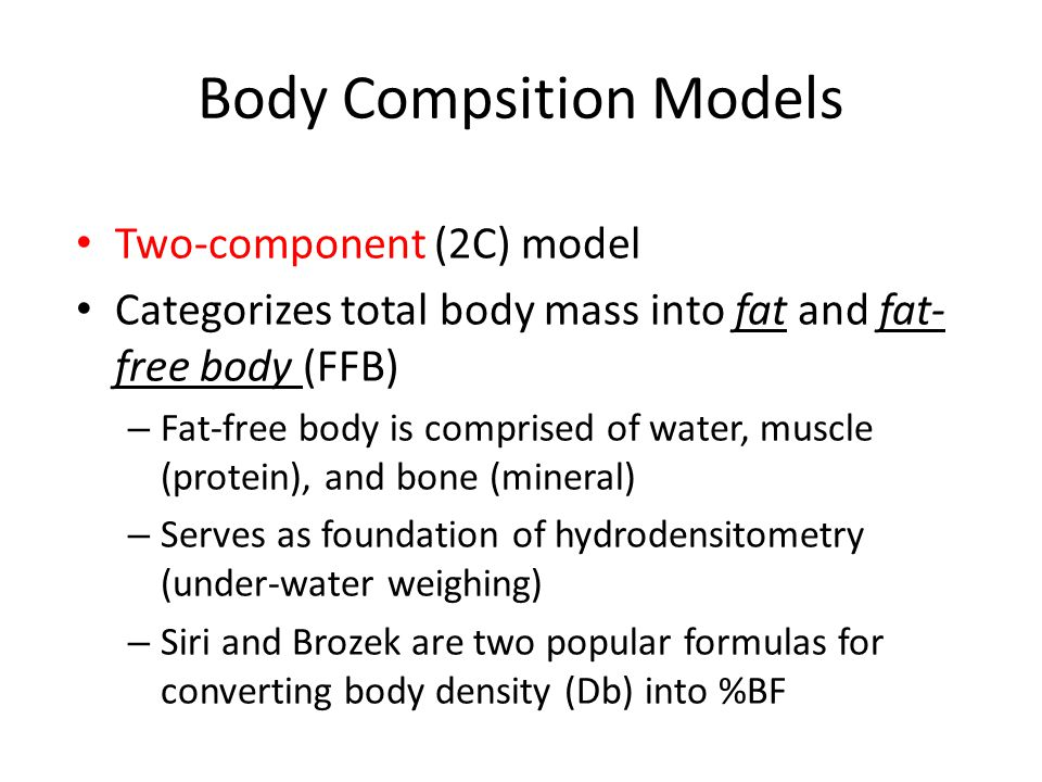 Body Compsition Models