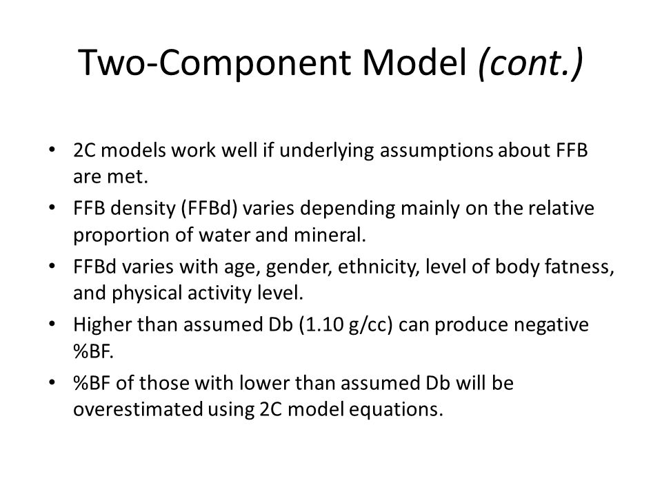 Two-Component Model (cont.)