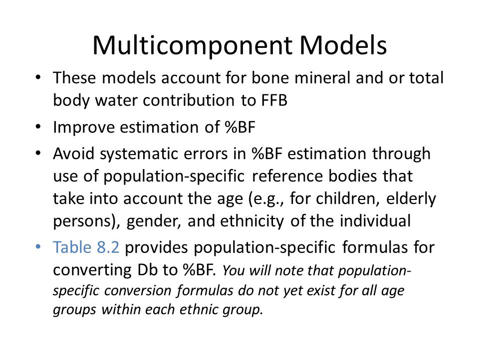 Multicomponent Models