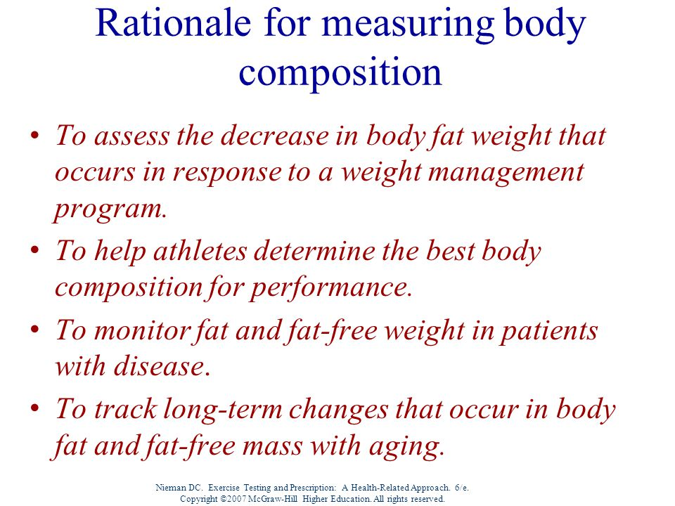 Rationale for measuring body composition