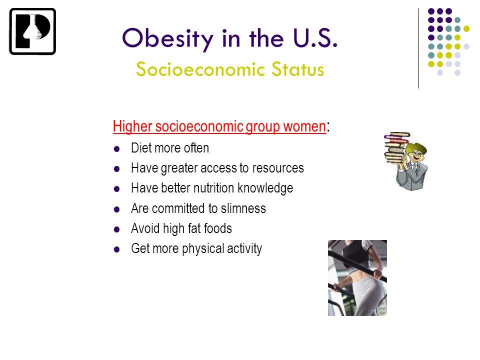 Obesity in the U.S. Socioeconomic Status