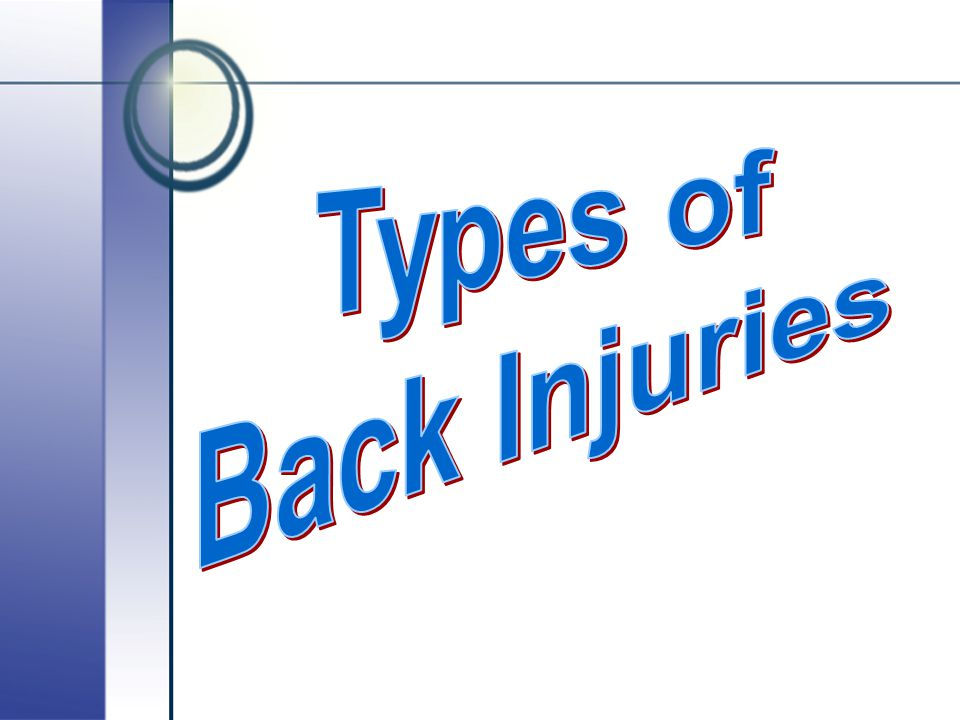 Types of Back Injuries