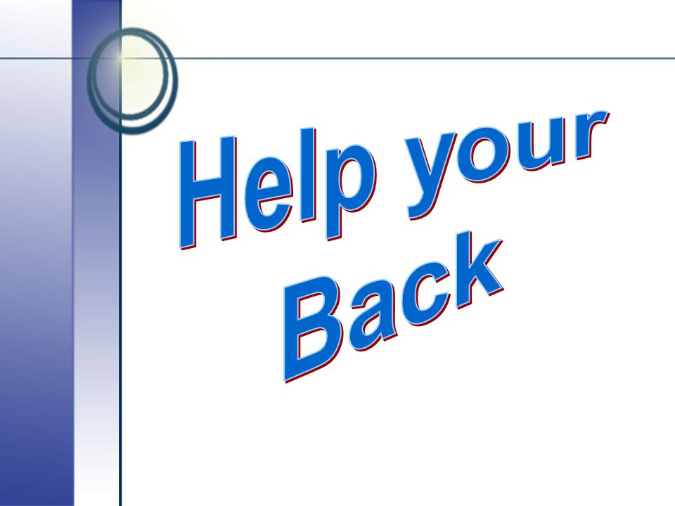 Help your Back