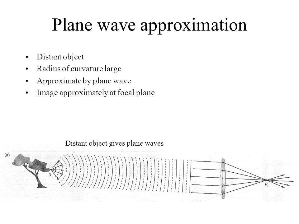 Plane wave approximation