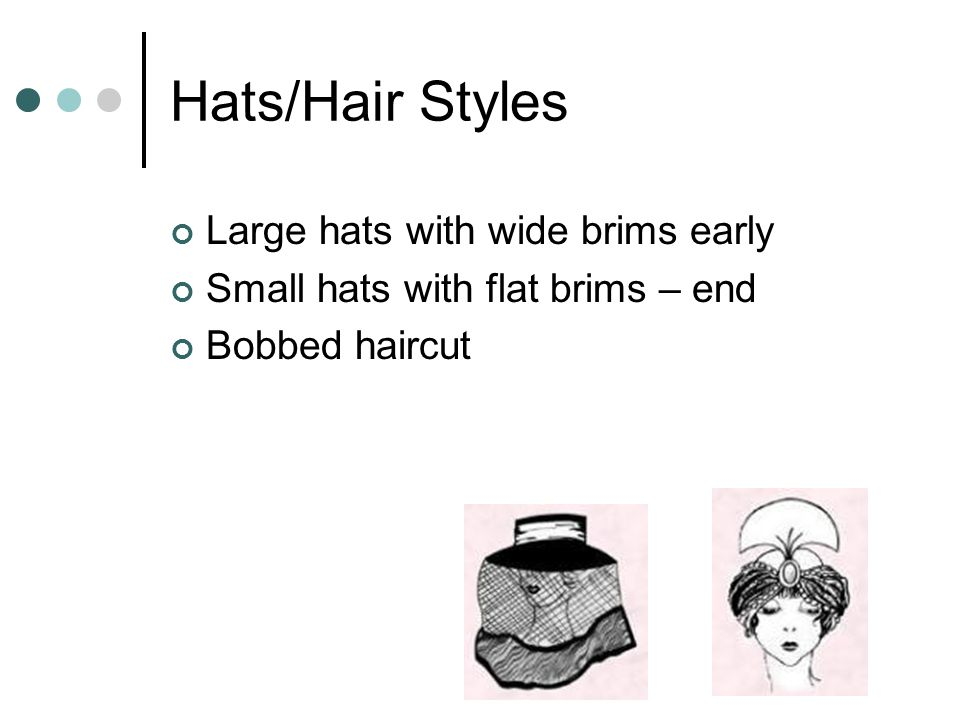 Hats/Hair Styles Large hats with wide brims early