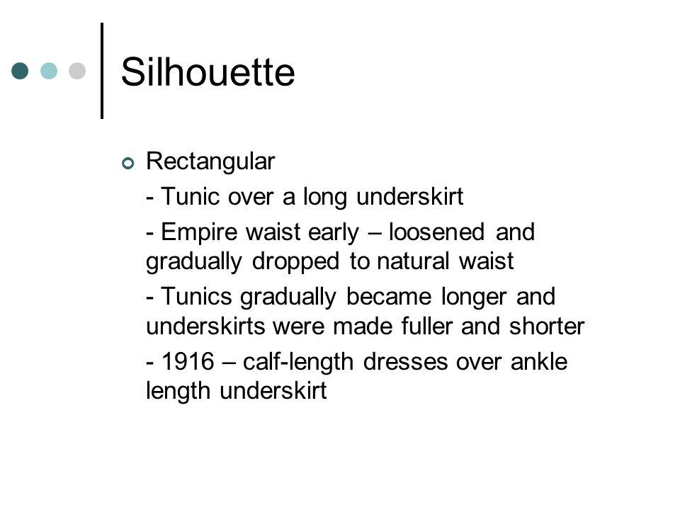 Silhouette Rectangular - Tunic over a long underskirt